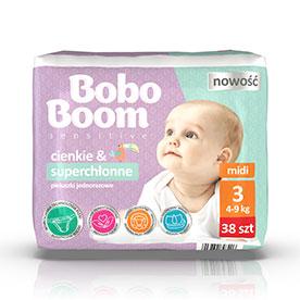 Bobo Boom Pieluszki jednorazowe 3 midi 4-9 kg 38 sztuk