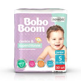 Bobo Boom Pieluszki jednorazowe 5 junior 11-20 kg 30 sztuk