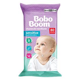 Bobo Boom Premium Line Chusteczki nawilżane dla dzieci i niemowląt Sensitive 80 sztuk