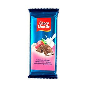 Choco Charlie Czekolada mleczna z nadzieniem o smaku truskawkowo-jogurtowym 100 g