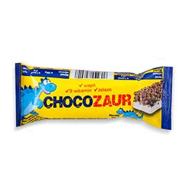 Chocozaur Baton zbożowy kakaowy z polewą mleczną kuleczki 25 g