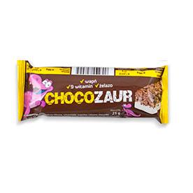 Chocozaur Baton zbożowy kakaowy z polewą mleczną muszelki 25 g