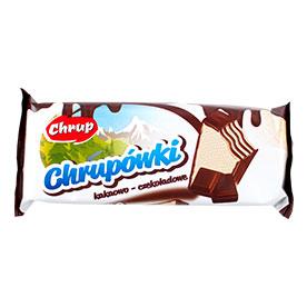 Chrup Chrupówki Wafel przekładany kremem o smaku kakaowo-czekoladowym 47 g