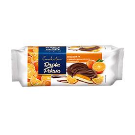 Conchador Biszkopty z galaretką pomarańczową w czekoladzie 150 g