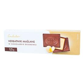 Conchador Herbatniki maślane w czekoladzie deserowej 125 g
