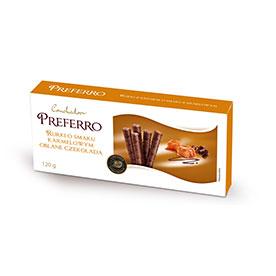 Conchador Preferro Rurki z kremem o smaku karmelowym oblane czekoladą mleczną 120 g