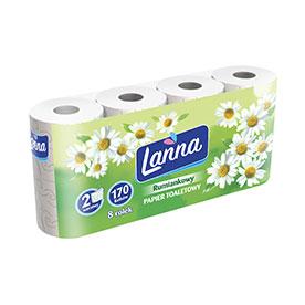 Lanna Papier toaletowy rumiankowy 8 rolek