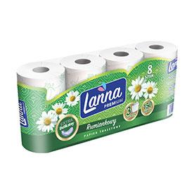 Lanna Premium Papier toaletowy rumiankowy 8 rolek