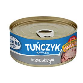 Master Fish Tuńczyk kawałki w sosie własnym 170 g