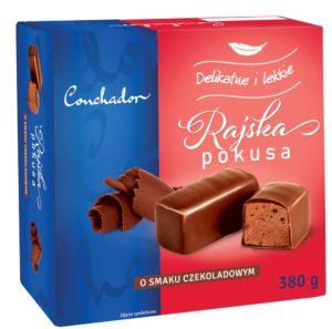 Conchador Rajska Pokusa Pianka o smaku czekoladowym w czekoladzie 380 g