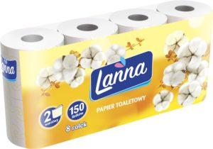 Lanna Papier toaletowy żółty 8 rolek