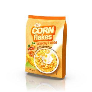 Płatki kukurydziane w polewie miodowej z orzeszkami ziemnymi 250 g
