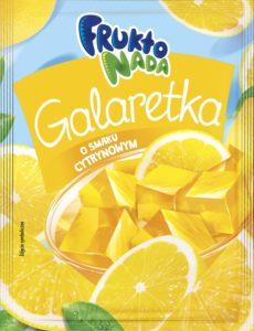 Fruktonada galaretka o smaku cytrynowym 75g