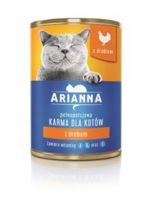 Arianna Karma dla kotów z drobiem 415 g