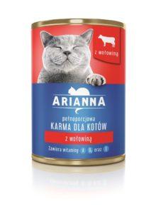 Arianna Karma dla kotów z wołowiną 415 g