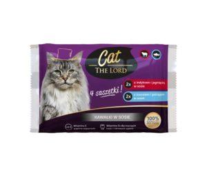 Cat The Lord Saszetki dla kota kawałki w sosie 4x100 g