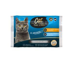 Cat The Lord Saszetki dla kota kawałki w galarecie 4x100 g