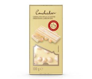 Conchador Czekolada biała z całymi orzechami laskowymi 100 g