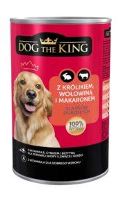 Dog The King Karma dla psa z królikiem, wołowiną i makaronem 1,24 kg