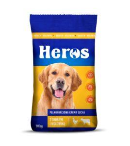 Heros Karma sucha dla psa z drobiem i wołowiną 10 kg