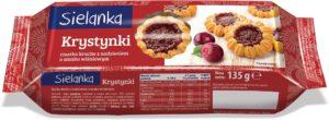 Sielanka Krystynki Ciastka kruche z nadzieniem o smaku wiśniowym 135 g