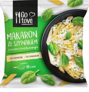 Go tove Makaron ze szpinakiem z sosem śmietanowym 450 g
