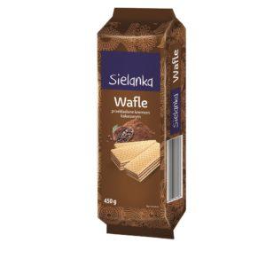 Sielanka Wafle przekładane kremem o smaku kakaowym 450 g
