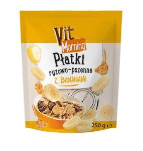Vit Morning Płatki ryżowo-pszenne z bananami 250 g