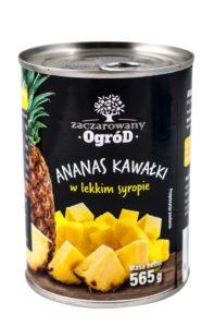 Zaczarowany Ogród Ananas kawałki w lekkim syropie 565 g