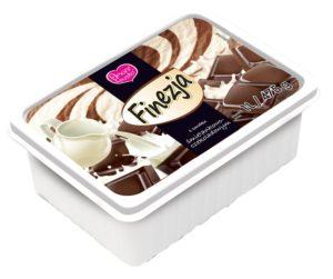 Amore Gusto Finezja Lody o smaku śmietankowo-czekoladowym 1 l