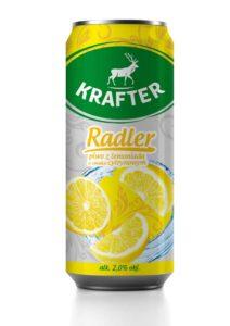 Krafter Radler Piwo z lemoniadą o smaku cytrynowym 500 ml