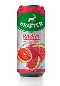 Krafter Radler Piwo z lemoniadą o smaku grejpfrutowym 500 ml