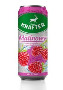 Krafter Piwo z napojem o smaku malinowym 500 ml