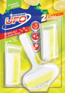 UFO Zawieszka z kostkami do toalet świeżość cytryny 3x40 g