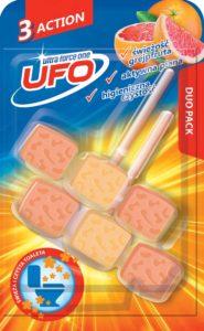 UFO Zawieszka z kostkami do toalet 3 Action świeżość grejpfruta 2x 45 g