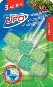 UFO Zawieszka z kostkami do toalet 3 Action świeżość lasu 2x 45 g