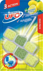 UFO Zawieszka z kostkami do toalet 3 Action świeżość cytryny 2x 45 g