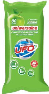 UFO Uniwersalne Chusteczki nawilżane do czyszczenia o zapachu jabłka 80 szt.