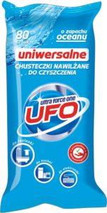 UFO Uniwersalne Chusteczki nawilżane do czyszczenia o zapachu oceanu 80 szt.
